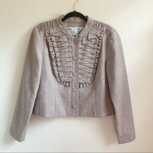Anthropologie Tabitha Pleated As You Please Jacket